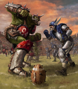 Orc Human Ball Faceoff Cropped